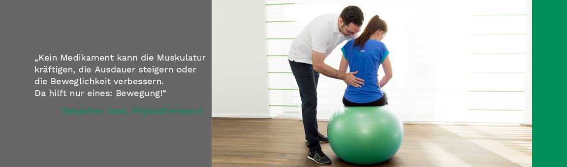 Schwerpunkt sind Therapien für Senioren, Sportler, Büromenschen und  Menschen mit Rückenschmerzen oder mit Problemen an den Gelenken.