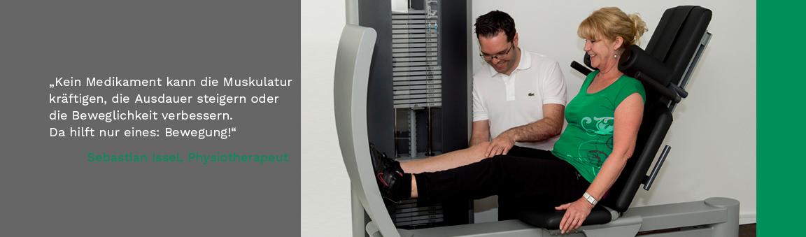 Modernste Geräte und physiotherapeutische Unterstützung sorgen für effizientes Training
